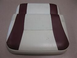 G3 Bay 18 Dlx Center Console Seat Back Peal White With Red Stripe 14x16