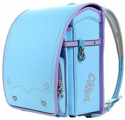 Coulomb Randoseru A4 School Backpack 2017 Model Light Blue 109 LB NEW Japan FS