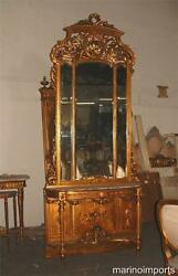 19th C. Best French Pier Mirror And Marble Console Table
