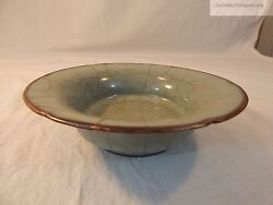 Chinese Guan Kiln Bowl with Emperor Poem of the Song Dynasty (960-1279AD)