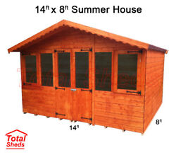 14 X 8 Supreme Summer House Log Cabin Office Bar Shed High Quality Wooden Timber