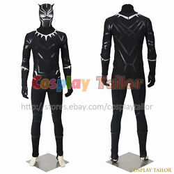 Captain America 3 Civil War Tand039challa Cosplay Black Panther Costume Fancy Dress