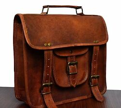 Bag Leather Vintage Messenger Shoulder Men Satchel Laptop School Briefcase All $41.85