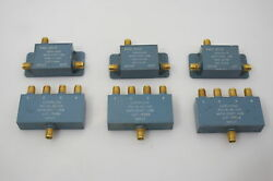 Lot Of 3 Direction Couplers Dc-700mhz And 3 Of 4-way Splitters Dc-178mhz Tested