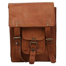 Bag Leather Vintage Messenger Shoulder Men#x27;s Satchel Laptop School Briefcase New $39.06