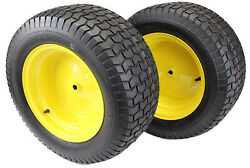 Set Of 2 22x9.50-12 Tires And Wheels 4 Ply For Lawn And Garden Mower Turf Tires