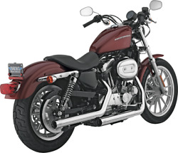 Vance And Hines Straightshot Hs Slip Ons Harley Xl Sportster 04-13 Chrome