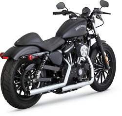Vance And Hines Straightshot Hs Slip Ons Harley Xl Sportster 14-20 Chrome