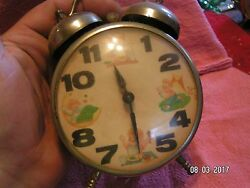 Vintage S 1960's/70's Lux Alarm Clock Childs Life  Used Condition