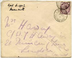 Boer War Gb Used In South Africa 4 April 1902 Harrismith Army Post Office