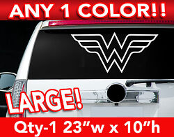 Wonder Woman Outlined Large Decal Sticker 23w X 11h Any 1 Color