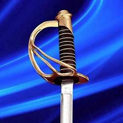 1860 Light Cavalry Union 41 Sword Saber With Scabbard Collectible By Windlass
