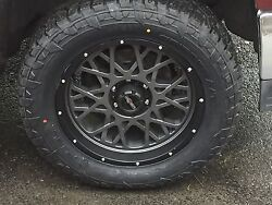 20 Vision 412 Rocker Fuel At 305/55r20 Wheel And Tire Package Ford F250 8x170