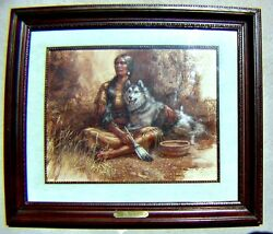 Original Pastel The Guardian by Carol Petting Harding Framed Under Glass