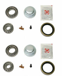 2 Fag Left+right Front Wheel Bearing Kits + Grease Cap Set For Mercedes W126