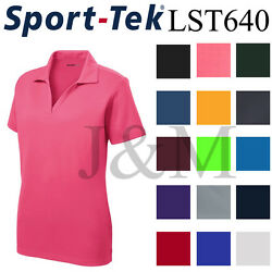 Sport Tek LST640 Womens Dri-Fit Performance Polo Casual Golf Shirt Dry