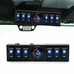 6 Rocker Switch Control Panel for Jeep Wrangler JK&JKU 2009-2017 Blue LED Light