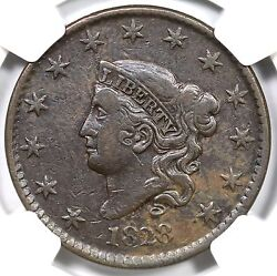 1828 N-12 R3+ Ngc Vf30 Large Date Coronet Head Large Cent Coin 1c Ex Reiver