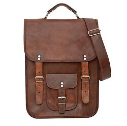 New Bag Leather Vintage Messenger Shoulder Men Satchel Laptop School $ Briefcase $41.85