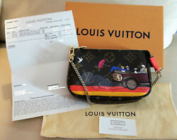 Louis Vuitton Evasion Limited Edition Mini Pochette Monogram Wristlet France