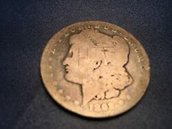 1892 S Morgan Silver Dollar. Check Out This H I Stamp On The Face Of The Coin.