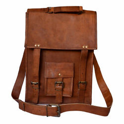 Leather Vintage Messenger Shoulder Men#x27;s Satchel Laptop And School Briefcase Bag $42.78