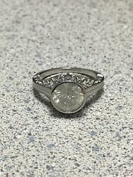 New 2.18ct Natural Mine Diamond Solitaire Engagement Ring 14k Gold Filigree
