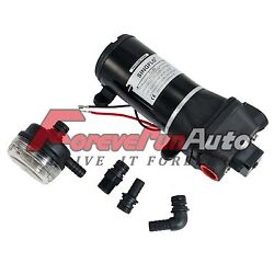 New 12v Dc 40psi 4.5gpm High Pressure Water Pump With Fittings