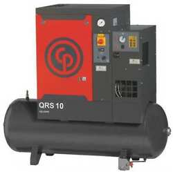 CHICAGO PNEUMATIC QRS 10 HPD Rotary Screw Air Compressor w/Air Dryer