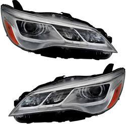 LED Headlight Assembly NEW Pair Set for 15-17 Toyota Camry XLE (non-Hybrid)