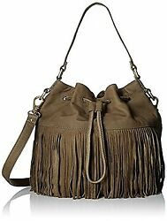 Fossil Jules Large Fringe Drawstring Bag Satchel Crossbody ZB6929386