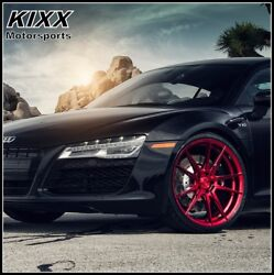 20 Rohana Rf2 20x9 Forged Red Concave Wheels For Audi A4 A5 A6 A7 A8