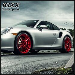 20 Rohana Rf2 20x9 20x12 Red Forged Concave Wheels For Porsche 991 911 Carrera