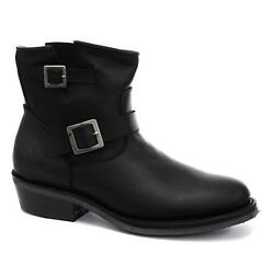 Real Leather Boots Vintage Men Classic Boots Black Designer Look Boots