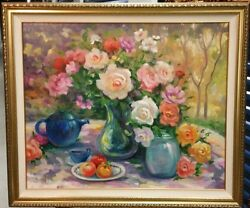 Oil Floral Painting Morning Star