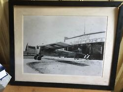 Ford Stout At-2 Pullman Airport Framed And Matted Picture 30 1/2 X 24 1/2