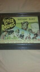 Antique Vintage Rare The Little Rascalsbirthday Blues Picture Glass And Frame.