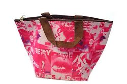 School Work Picnic Lunch Bag Tote Thermal Insulated Cooler Zipper Bag To-Go Tote