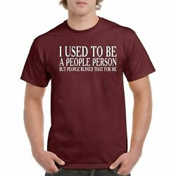 People Person Men's Tee Shirt I Used to Be Round Neck 100% Cotton T-shirt