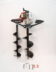 2 Man Hand Held Post Hole Digger / Earth Auger W/ 6 And 10 Bits 63 Cc 3 Hp Epa