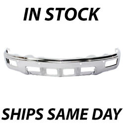 New Steel Chrome Front Bumper For 2014 2015 Chevy Silverado 1500 W/ Fog And Park