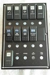 CARLING MARINE BOAT CONTURA SWITCH PANEL 10SWITCHES LIGHTED BOAT MARINE
