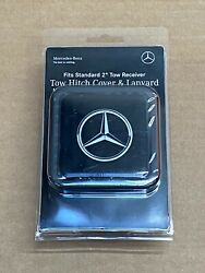 Mercedes-benz Genuine 2 Tow Hitch Receiver Plug Cover And Lanyard New G Ml Gl