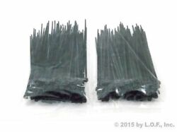 200 Pack 4 Inch Zip Cable Ties Nylon Black 18 Lbs Uv Weather Resistant Wire