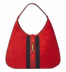 NWT GUCCI WOMENS LARGE JACKIE SUEDE LEATHER HOBO PURSE TOTE BAG
