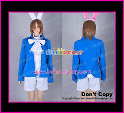 Alice In Wonderland Cosplay Costume White Rabbit Blue Jacket High Made Full Set
