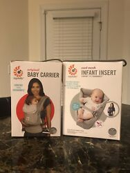 Ergo Baby Carrier Infant Insert Grey And Baby Carrier
