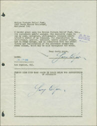 GARY COOPER - DOCUMENT DOUBLE SIGNED 07/29/1946