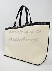 Brahmin Becca Beach/travel Tote In Ink Skylark. Canvas And Croc Embossed Leather