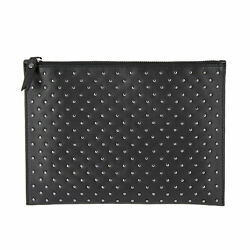 DUDU Large Makeup Clutch Bag Pochette for Women in Nappa Leather Carryall with m